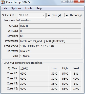 cpu temp monitorizare temperatura procesor