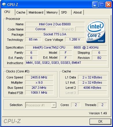 cpuz procesor ram memorie placa de baza soft recunoastere
